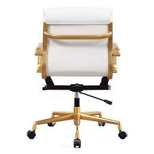 gold office chair white and modern chairs quality interior base