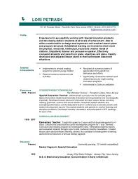 resume examples education resume example teacher transitional