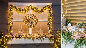 lighted christmas tree garland decorate your windows for christmas
