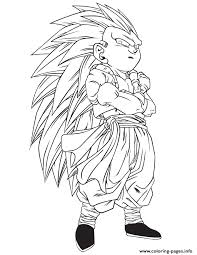 print dragon ball z gotrunks coloring page coloring pages