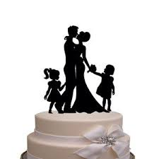 family wedding cake toppers happy family wedding cake topper silhouette and groom