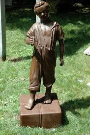 cast iron lawn jockey at 1stdibs