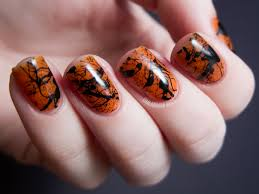 spooky splatter nails tutorial chalkboard nails nail art blog