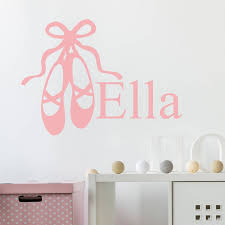 ballet shoes personalised wall stickers by nutmeg ballet shoes personalised wall stickers