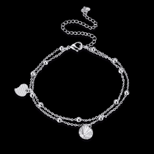 links silver bracelet charms images Cute bells dangle charms anklets foot wear girls gifts 925 jpg
