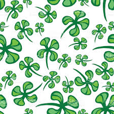 st patricks day vector seamless background with shamrock stock