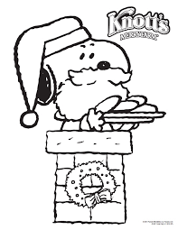 snoopy coloring christmas coloring pages