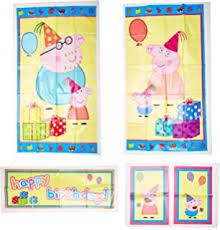 peppa pig decorations peppa pig birthday party foil swirl decorations pack