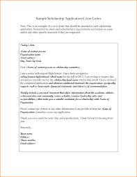 scholarship cover letter sle 28 images 10 application letter