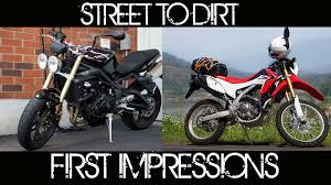 triumph motocross bike o o from street triple to dirt bike converting west side ride to