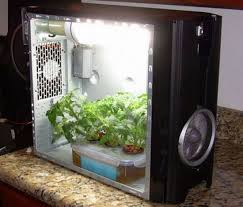 stealth hydroponic grow box pc style grow cabinet gardening ideas