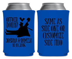 koozies for wedding officer 1a collapsible custom coolers cop wedding favors