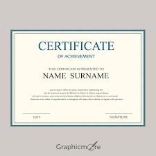 doc 400309 certificates of achievement free templates