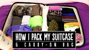 united check in luggage how i pack my suitcase u0026 carry on bag ootd pippopunkie youtube