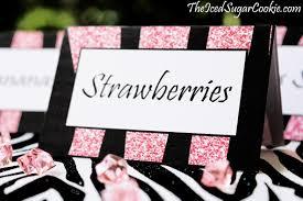 diy birthday blog diy pink glitter zebra birthday party food