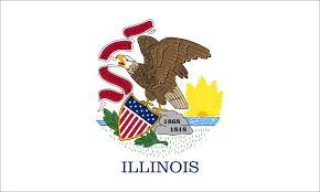 Flag White On Top Red On Bottom Illinois Flag State Flag Of Illinois