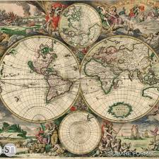 World Map Mural Antique Map Of World 1689 Wall Mural Graphicsmesh
