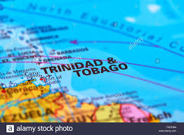 Trinidad World Map by Trinidad Tobago And Important Cities On The World Map Stock Photo