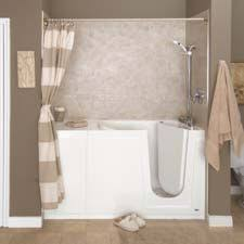 Small Bathroom Walk In Shower Designs In This Master Bathroom Remodel We Installed A Walk In Bathtub And