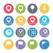 pin map icons set vector art thinkstock