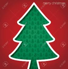 christmas tree merry christmas cut out card royalty free cliparts