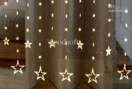 Led Light Curtains Cheap Warm White Five Pointed Star Curtain String Lights Led Light