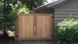 garbage enclosure double gates black diamond fencing fence