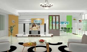 Tv In Dining Room Modern Living Dining Room Tv Wall Partition 3d House