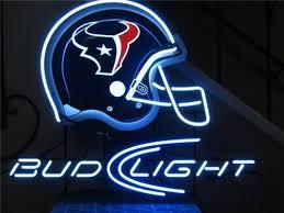 bud light bar light bud light houston texans neon sign neon beer signs bar lights