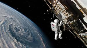 outside space astronaut outside the international space station on a spacewalk