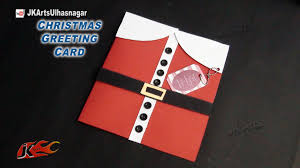 how to make christmas greeting card diy christmas santa card