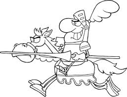 knight riding horse coloring free printable coloring pages