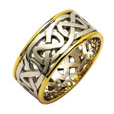 celtic rings wedding images Irish two tone wedding ring celtic knots gold irish wedding ring jpg