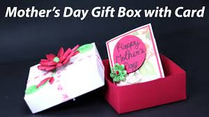 homemade mothers day gifts easy mother s day box card homemade mother s day gift box with