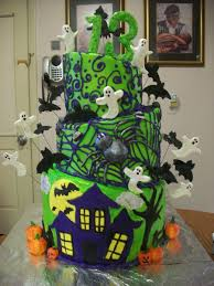 birthday cake halloween 3 tier halloween cake cakecentral com