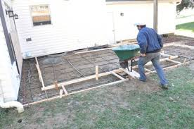 How To Build A Shed Ramp Concrete by How To Build A Concrete Patio With Bluestone Inlay Complete Guide