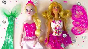 Mermaid Fairy Disney Queen Elsa Mermaid Fairy Princess Barbie Fairytale Dress Up