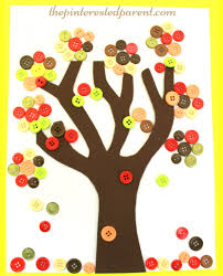 autumn button tree u2013 the pinterested parent