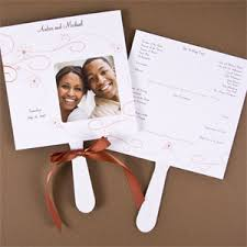 program fans wedding photo wedding program fans 25 pcs wedding programs