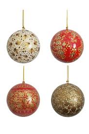 painted baubles at decorator s notebook