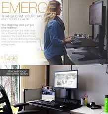 Adjustable Height Desk Plans by Emerge Powered Adjustable Height Desktop Open Plan Systems
