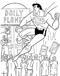 coloring book pages superman batman spiderman superman