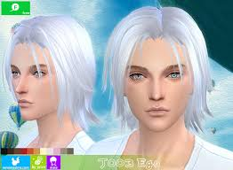 sims 4 blue hair hairstyle free newsea