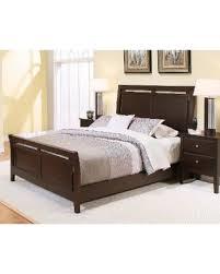 deal alert abbyson marsala espresso wood sleigh bed espresso