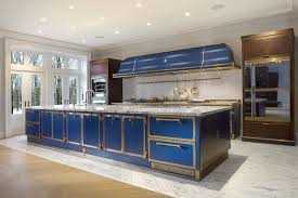 electric blue kitchen cabinets blue sapphire professional restaurant kitchen in your home