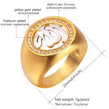 platinum rings for men in islam aliexpress buy u7 allah rings for men jewelry with luxury