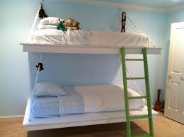 Wall Bunk Beds Bedroom Hang Bed From Wall White Hanging Bunk Beds Diy