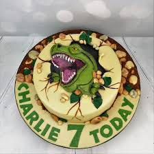 personalised rex birthday cake design angie scott cakes