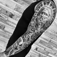 a look at some black and grey tattoos religious