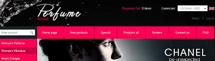 website template 31151 perfume store online custom website